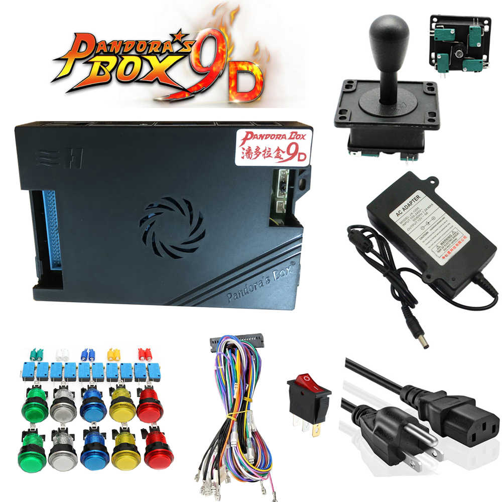Boîte de Pandora originale 9D 2500 jeu de jeux bricolage Kit d'arcade bouton poussoir Joystick pour Machine d'arcade paquet maison armoire avec manuel
