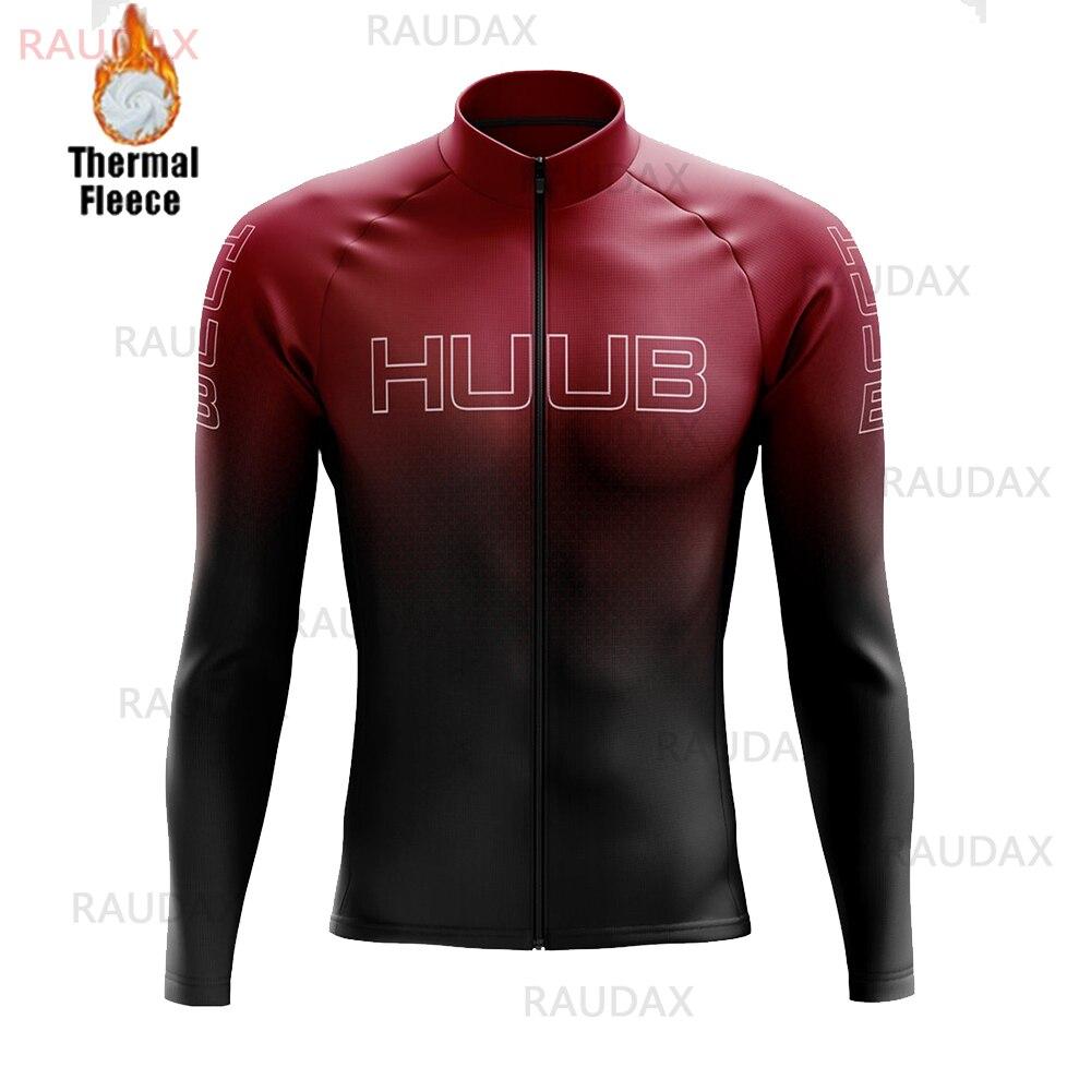 HUUB одежда с длинным рукавом Велоспорт Джерси 2020 Pro Team зима Термальность флис велосипедов велосипедная форма мужской свитер для езды на горн...