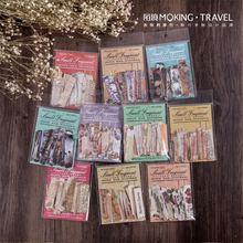 JIANWU 50 sheets Small Fragment Series Creative hand tear vintage art  Journal Supplies Scrapbook DIY Sticker