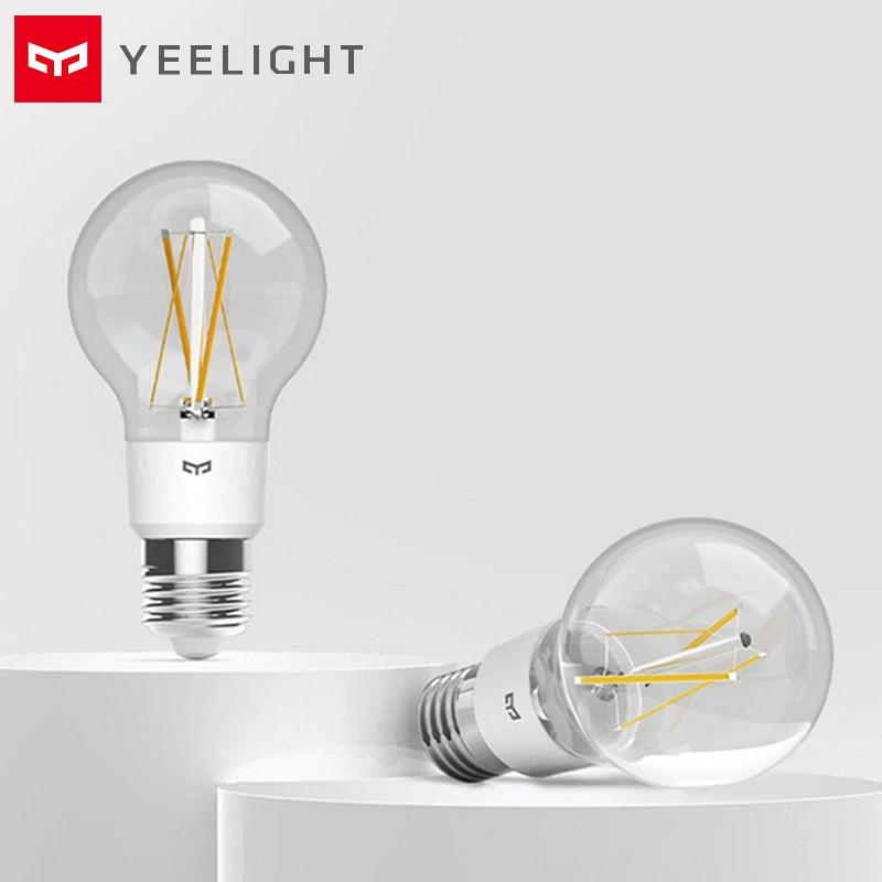 Yeelight YLDP12YL E27 Smart LED Bulb Filament Light 700 Lumens 6W Lemon Smart Bulb Work With Apple Homekit 2700K 220V