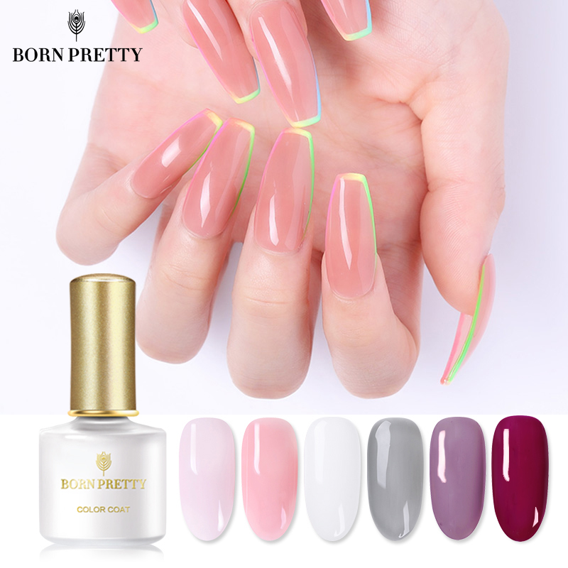 BORN PRETTY Opal Jelly Nail Gel Polish 6ml Semi-transparent White Pink Varnish Soak Off Manicure Nail Art UV Gel Lacquer