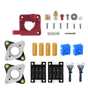 3D Printer MK8 Extruder Upgrade Kit Springs Extruder Sock Tube Stepper Dampers Smoother for Creality Ender 3 CR10 CR-10 Printer