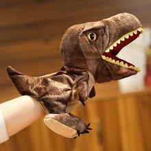 Cute Plush Simulation Dinosaur Puppets Stuffed Plush Toys Dragon Hand Puppet Kids Gift