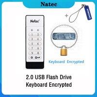 Netac Keyboard Encrypted USB 2.0 Pendrive 64gb 32gb USB Flash Drive 32 64 16 GB Pen Drive USB Flash Stick Disk on Key Memory