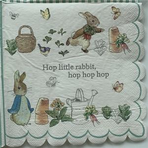 Image 1 - 20 בציר מפיות נייר אלגנטי רקמות חמוד ארנב ברווז עציץ פרפר מגזרת נייר חתונת יום הולדת אריזות מפלגה דקור