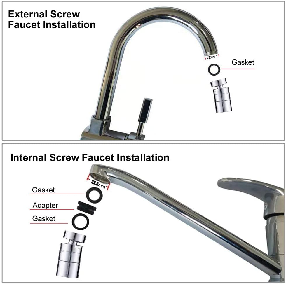 Faucet Sprayer 360° Rotatable Kitchen Faucet Sprayer Moveable Kitchen Tap Head Sink Sprayer Attachment Sink Nozzle for Kitchen 3