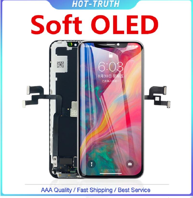 1 écran souple d'affichage à cristaux liquides de qualité d'oled pour l'iphone X 10 Xs OLED XR Xs