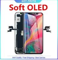 1 ud. Pantalla LCD suave de calidad OLED para el iPhone x 10 Xs OLED XR Xs Max Original LCD Display digitalizador montaje reemplazo