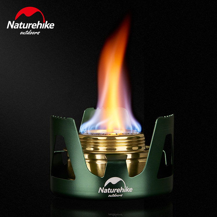 NH Naturehike Outdoor Portable Liquid Solid Alcohol Stove Open Country Stove Camping Vaporization Solid Alcohol Furnace End