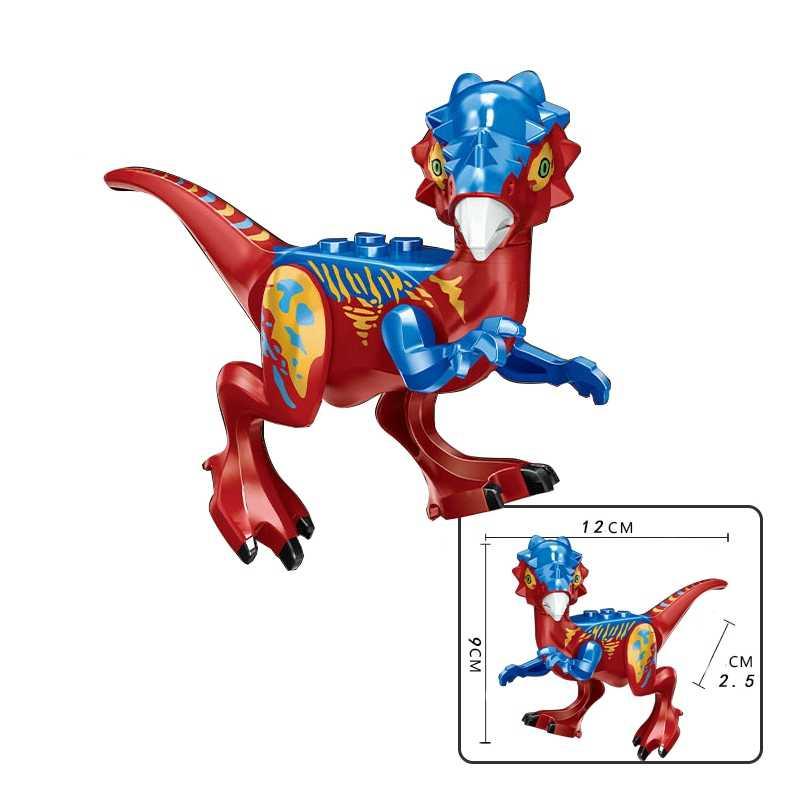 شخصيات ليجونج الديناصورات حديقة الطفل ديناصور العالم كريستال رابتور التيروسوارات تريسيراتوبس التيرانسورس ريكس لعبة ليجونج