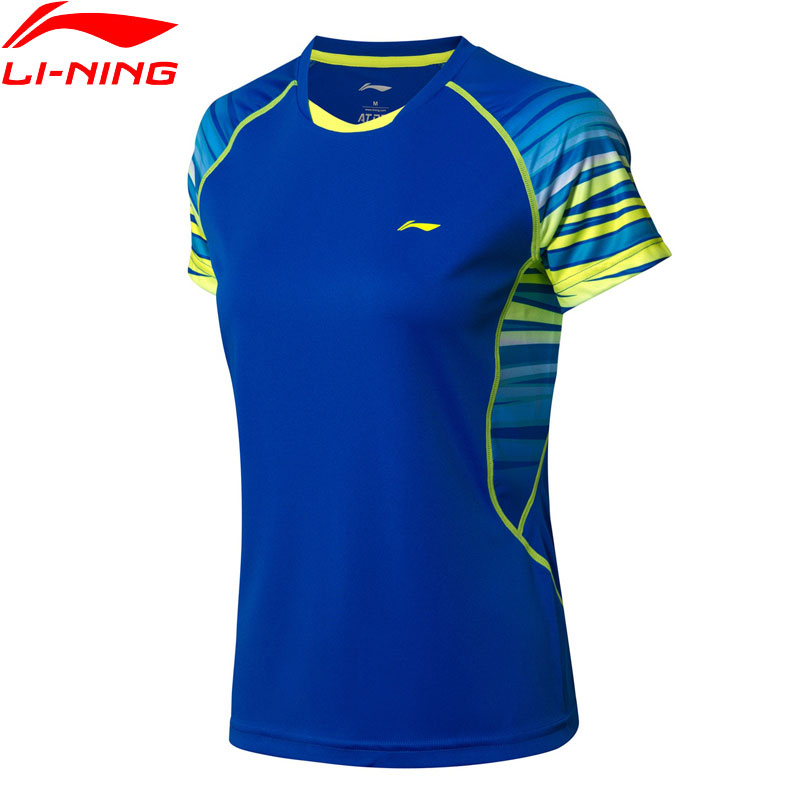 Li-Ning Women Badminton T-Shirt Competition Tees Comfort Seamless LiNing Li Ning Breathable Sports Tops T-shirts AAYN102 WTS1438