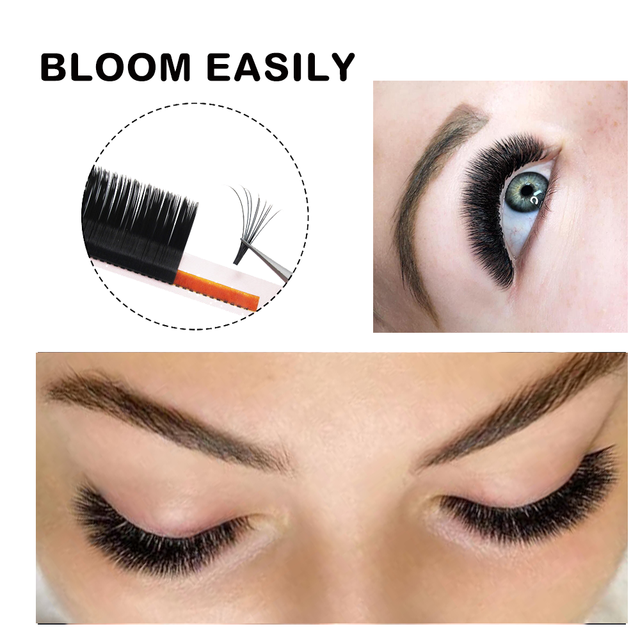 MASSCAKU Easy Fanning Volume Mega Eyelashes Extension Auto Flowering Rapid blooming fans lashes Fast Delivery 2