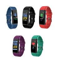 115plus Bluetooth Smart Sport Bracelet Waterproof Heart Rate Blood Oxygen Adult Blood Pressure Electronic Bracelet Monitoring 1