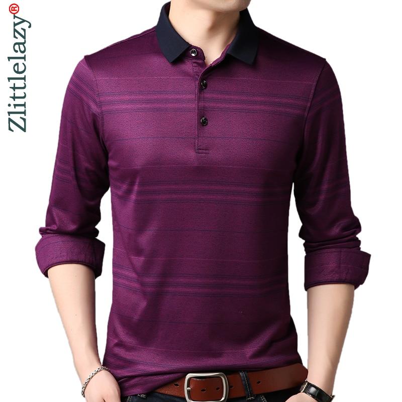 2019 Brand Casual Luxury Fitness Long Sleeve Polo Shirt Men Poloshirt Jersey Striped Mens Polos Tee Shirts Dress Fashions 90367