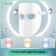 3 цвета светодиодный Фотон Маска электрический светодиодный для омоложения кожи лица против морщин акне лечение Домашний салон красоты инструмент