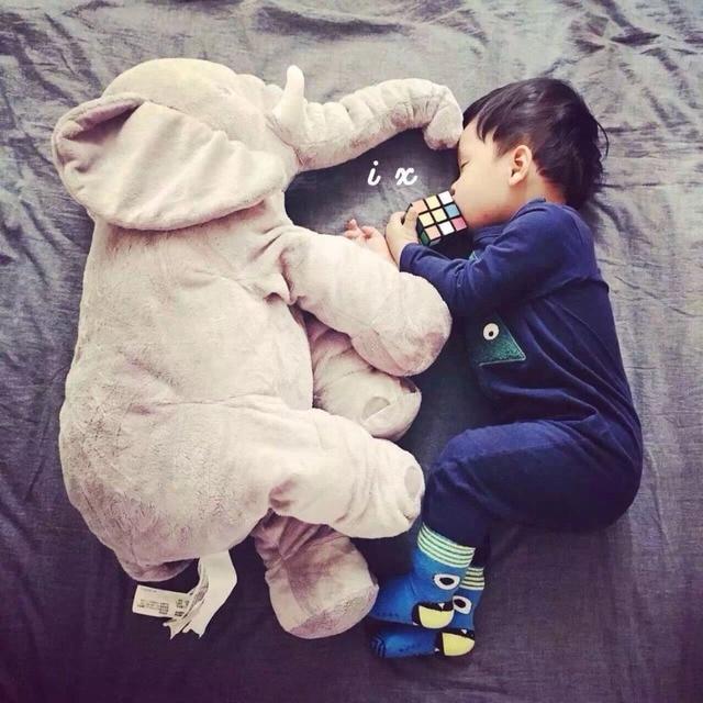 Lovely 40cm/60cm Infant Plush Elephant Soft Appease Elephant Playmate Calm Doll Baby Toy Elephant Pillow Plush Toys Stuffed Doll