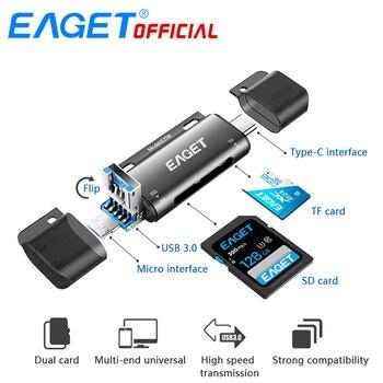 Eaget EZ08 Card Reader Type-C Micro USB USB 3.0 OTG Memory Card Reader For Smart Phone Tablet Laptop Smart TV Speaker
