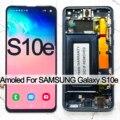 OEM полный комплект для Samsung Galaxy S10e G970F U LCD сенсорный экран AMOLED дисплей дигитайзер сборка замена без ожога теней