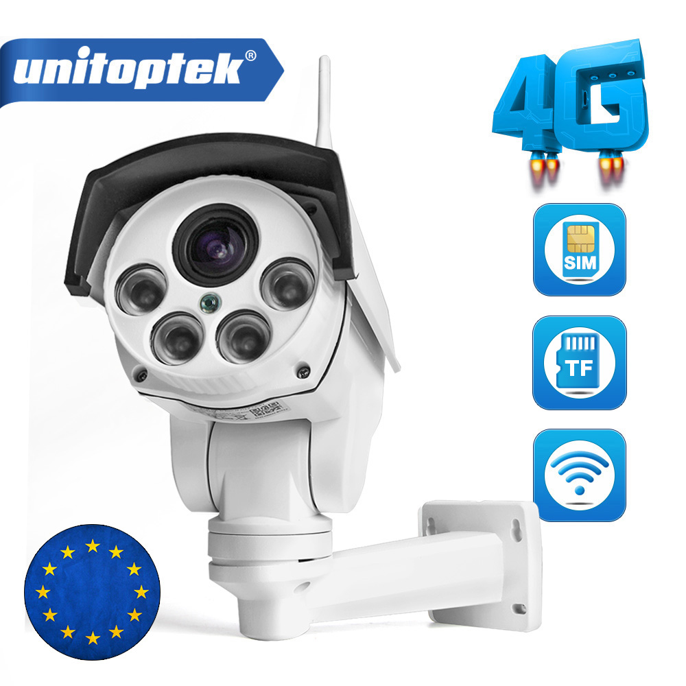1080P PTZ Camera 3G 4G SIM Card Camera Bullet Camera Outdoor Wireless IR 50M 5X 10X Zoom Auto Focus Lens CCTV Cam