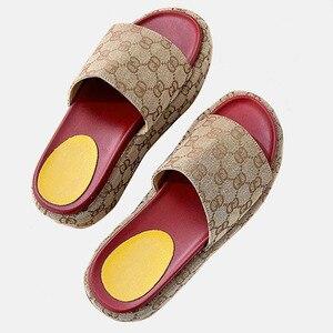 Bonjean Summer Luxury Desinger Beach Female Mouse Women's Slippers PU Leather Sandal Flat Casual Slides Women