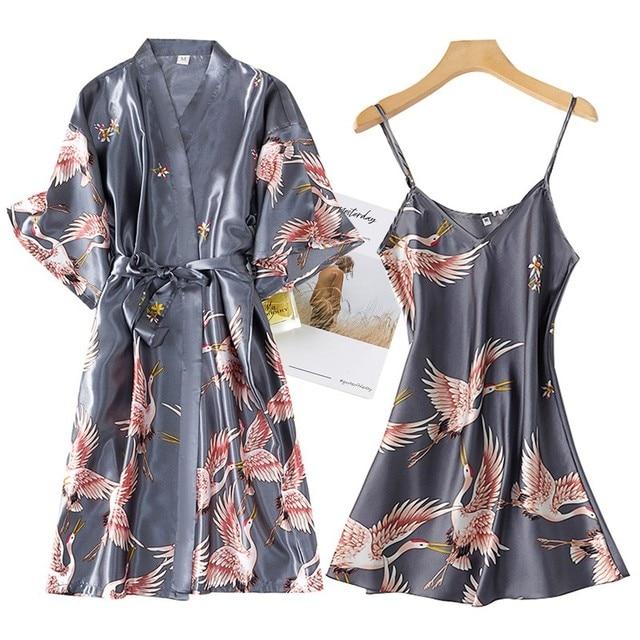 Nightwear Set with Robe 2