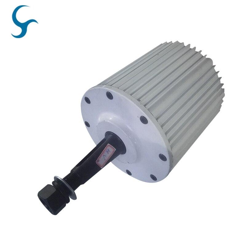 3 Phase AC 2000W Permanent Magnet Alternator 2kw 48v 96v 120v 220v 230v 240vac Low RPM Generator with Base