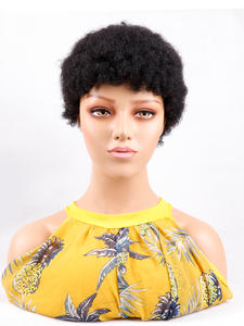 Wig Short Human-Hair Curly Black Wholesale Cheap for Women Natural-Color No-Lace Afro