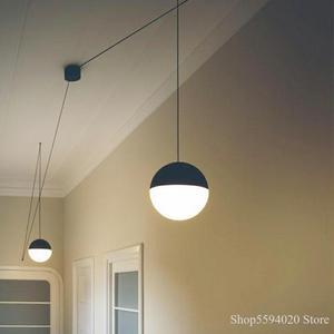 Скандинавский стеклянный шар DIY, длинная люстра, креативная Подвесная лампа, моделирование, лофт, столовая, подвесной светильник, приспособ...