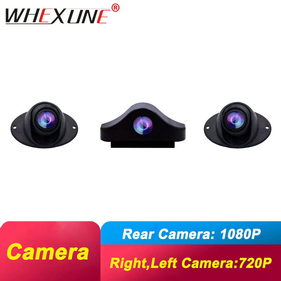 WHEXUNE 1080P Rear Camera With 6 Meters Power Cable,720P Waterproof Right,left Camera For WHEXUNE TZ107 And TZ076