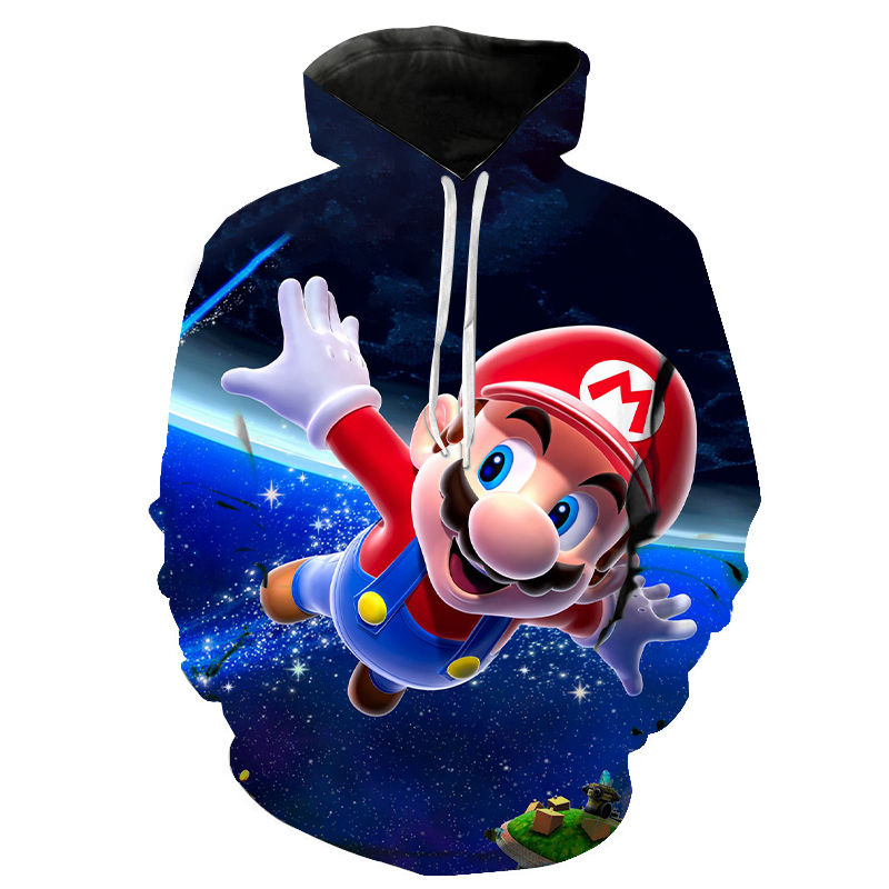 Super Mario Bros 3D Hoodies Men Women Children Cartoon Anime Super Mario Printed Boy Girl Clothes Sweatshirt Casual Streetwear
