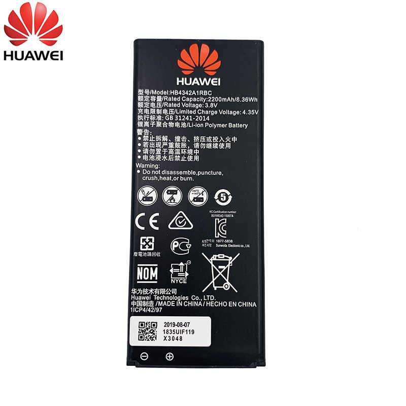 100% Nguyên Bản HB4342A1RBC 2200 MAh Pin Dành Cho Huawei Y5II Y5 II 2 Ascend 5 + Y6 Danh Dự 4A SCL-TL00 Danh Dự 5A LYO-L21 Điện Thoại Thông Minh