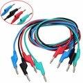 4 шт. 1 м мягкие Тестовые провода и кабели с силиконовой оплеткой 4 мм двухсторонний разъем типа