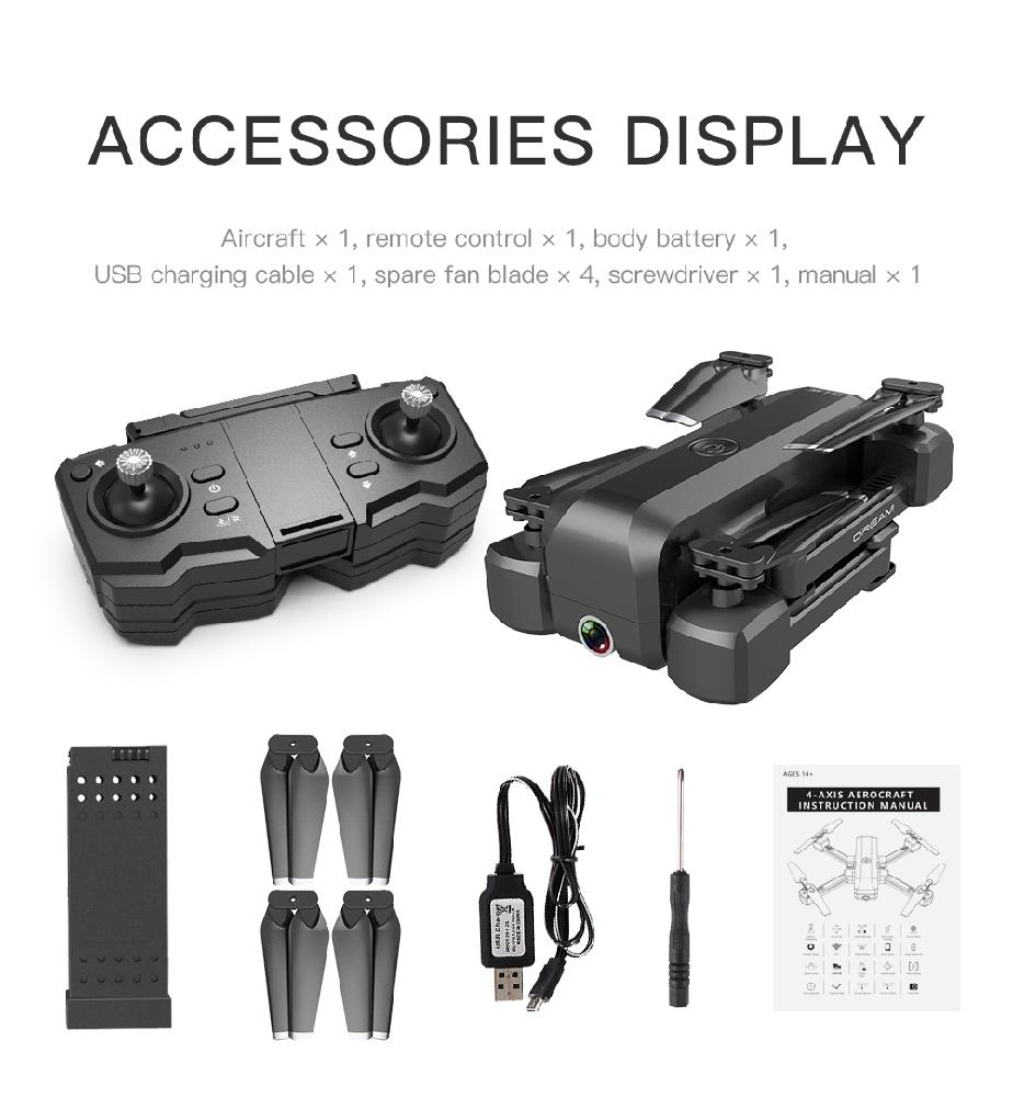 SG706 Foldable Quadcopter Helicopter Drone with 4K 1080P HD Dual Camera 1
