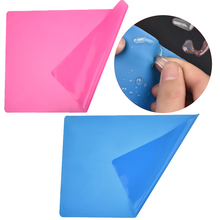 Silicone Pad 30x40cm Jewelry Making Protecting DIY Plate Mat Non Stick Pad For Resin Making Table Protector Blue Pink Color