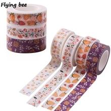 10pc/lot Flyingbee 15mmX5m Paper Washi Tape Floral Strawberry Fashion Adhesive DIY Sticker Label Masking X0490