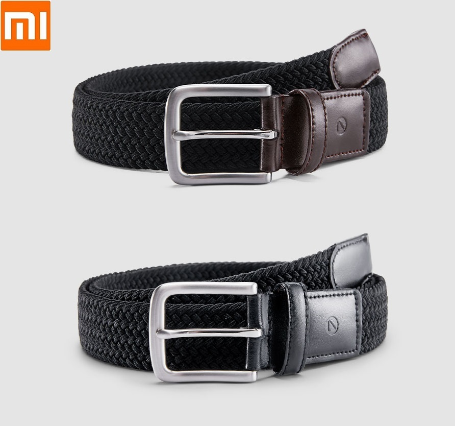 Xiaomi  Qimian Outdoor Tactical Belt Men Casual Stretch Knitting Pin Buckle Durable And Versatile For Male Jeans