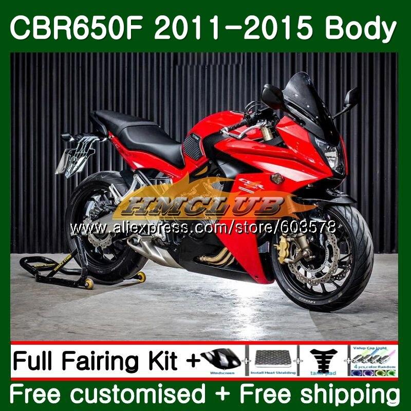 CBR-650F Pour HONDA CBR 650F 650 F 2011 2012 2013 2014 2015 130CL. 24 Brillant Rouge CBR650 F CBR-650 CBR650F 11 12 13 14 15 Carénage