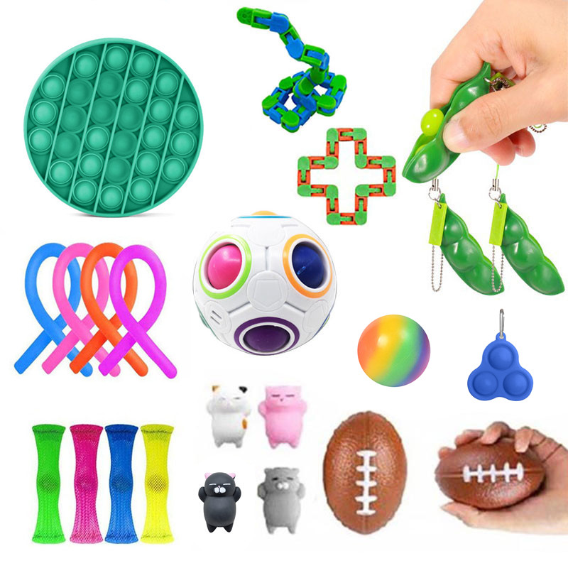 Fitget Toy Toy-Pack Fidget-Toys Antiestres-Chain Work-Stress Relieve Puzzle Sensory Adult img3