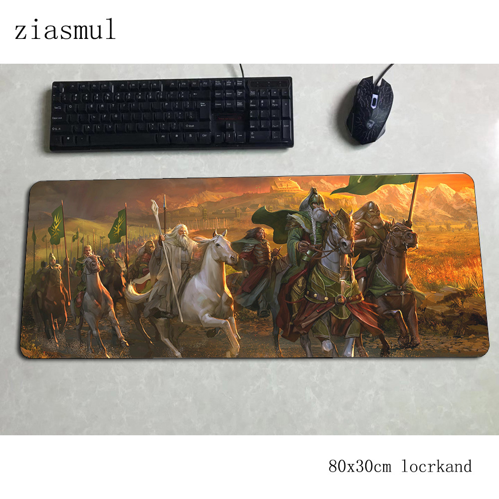 Lord Of The Ring Padmouse 80x30cm Gaming Mousepad Game Kawaii Mouse Pad Gamer Computer Natural Rubber Mat Notbook Mousemat Pc