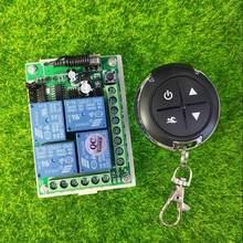 433mhz dc 12v 10a 4 canais rf, interruptor de controle remoto sem fio elétrico para carro/motocicleta/farol transmissor de buzina,