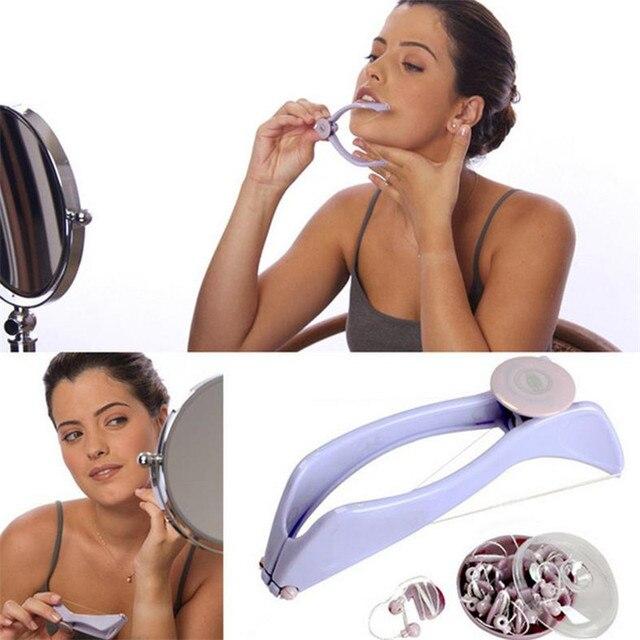 Protable Women Mini Facial Hair Remover Spring Threading Epilator Face Cheeks Eyebrow Epilator Tools 20#47 4
