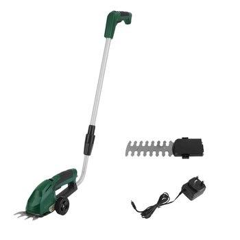 3.6V Cutting Care Cordless 2 In 1 Grass Lawn Shear Bush Hedge Hand Trimmer Cutter Telescopic Handles UK Plug