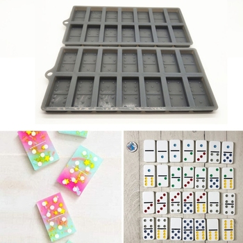 Handmade Domino Game Play Silicone Molds Resin 28 DIY Dominoes Personlized Games Epoxy Resin Casting Mold Art Crafts handmade silicone dominoes resin casting mold dominoes game play epoxy resin mold dominoes game casino fun art crafts