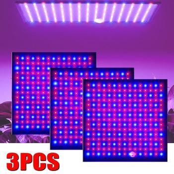 Tienda de cultivo 500W LED lámpara de luz de crecimiento para plantas lámpara de espectro completo Fitolampy interior hierbas luces para flores ahorro de energía