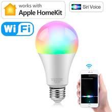 4/2/1 pces um bloco lâmpada inteligente wifi apple homekit suporte pode ser escurecido e27 com siri ac 90-265v