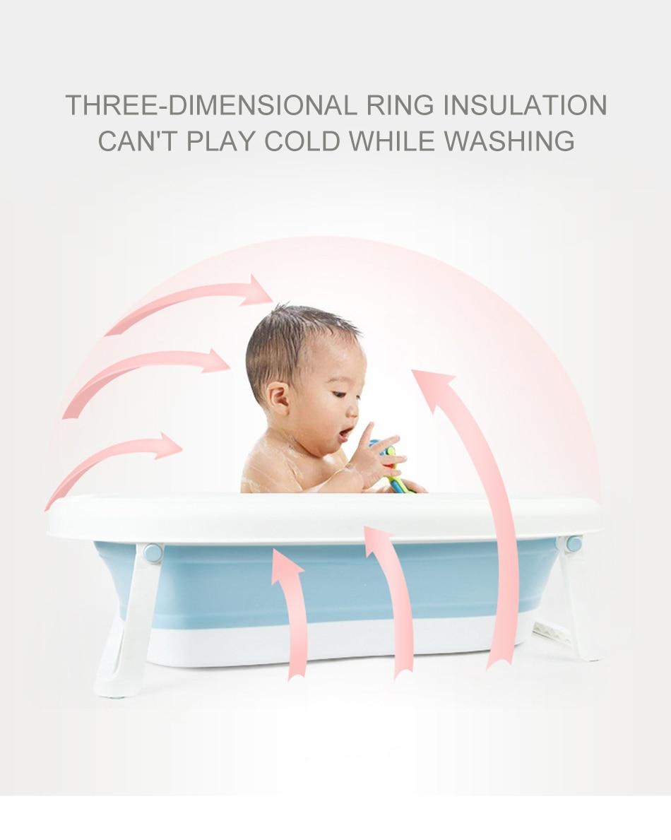Easy Folding Baby Bath Tub With Non slip Cushion For Safe New Born Baby Bath Tub 15