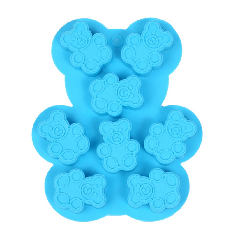 Bear Chocolate Mould Bear Silicone Mould Cake Mould Animal-shaped Silicone Ice Tray Household Square Ice Tray (random Colors)