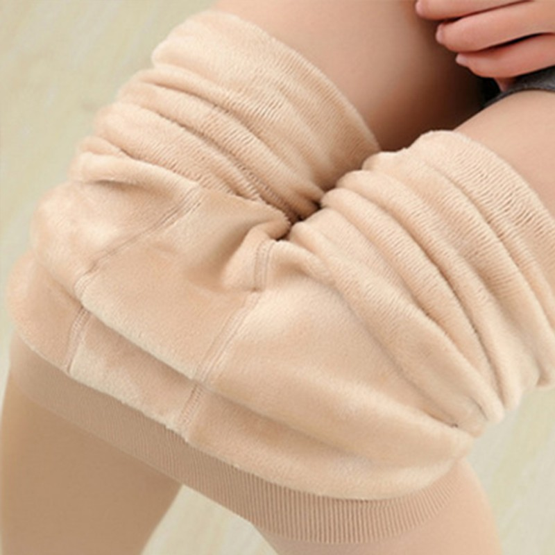 Women's Autumn Winter High Elasticity Leggings High Quality Warm Solid Color Leggings Thicken Fleece Ankle-length Pants Rk