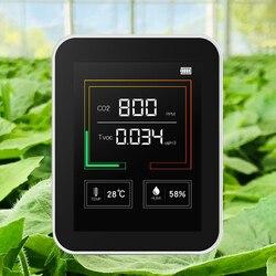 K03 detector de co2 doméstico qualidade do ar detector multifuncional c02 temperatura umidade tester display lcd com luz fundo