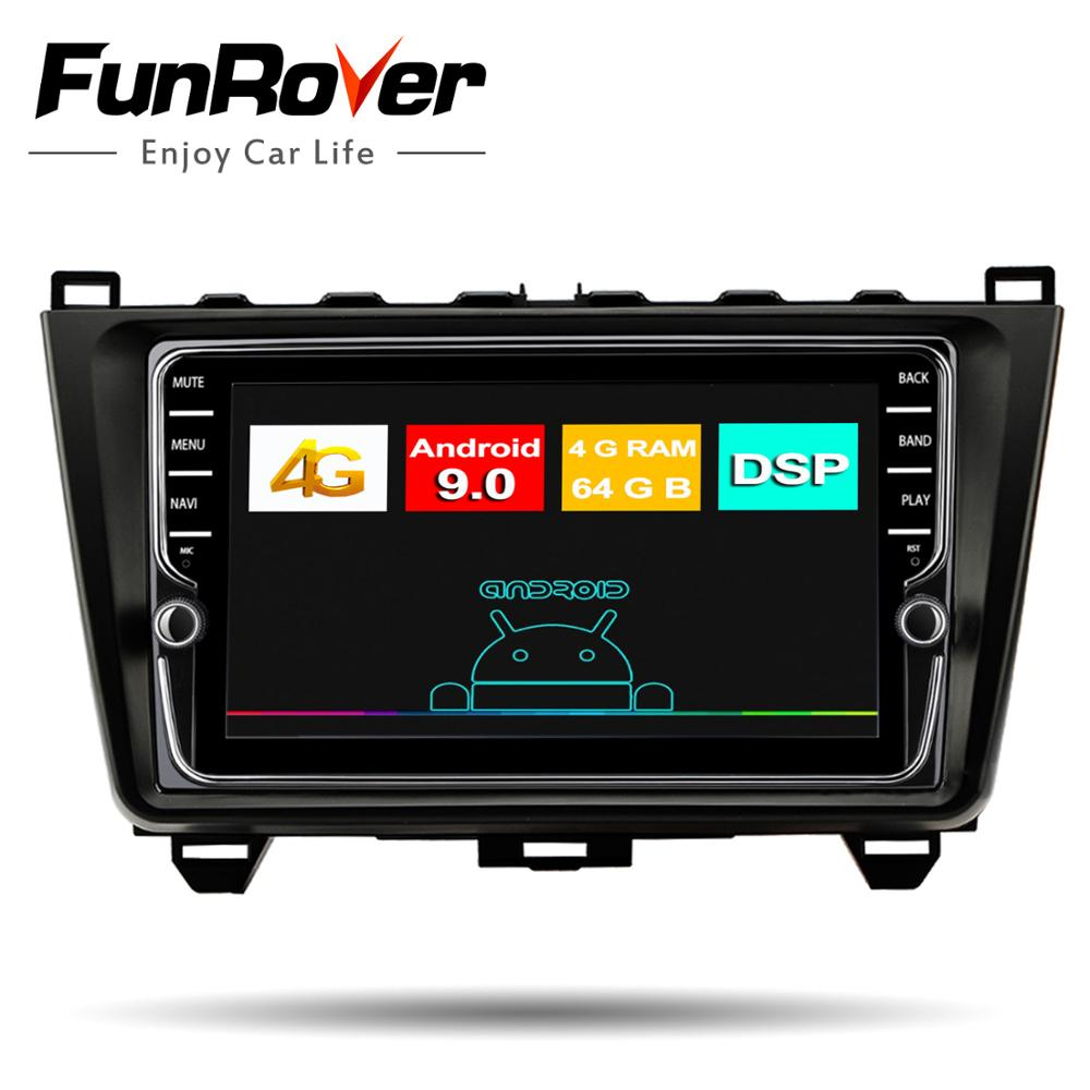 Funrover 8 core <font><b>android</b></font> 9.0 car <font><b>radio</b></font> multimedia player for <font><b>MAZDA</b></font> <font><b>6</b></font> 2008-2015 dvd gps navigation stereo IPS 64G SIM DSP RDS wifi image